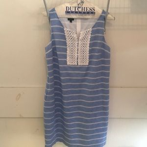 Talbots Blue & White Sheath Dress